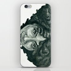 Natural Hair Portrait - African American Woman Afro iPhone & iPod Skin