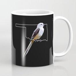 Oklahoma – Scissor-Tailed Flycatcher (Black) Coffee Mug