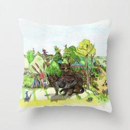 Witchington Gardens Throw Pillow