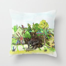 Witchington Gardens Throw Pillow
