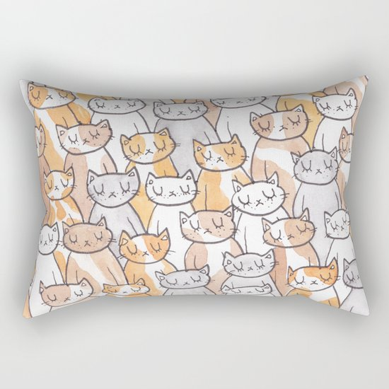 Sleepy Cats Rectangular Pillow