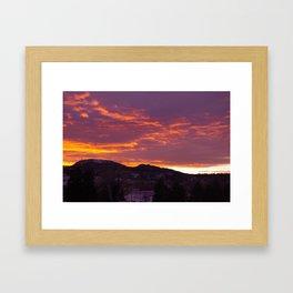 Sunset Over Crow Peak Framed Art Print