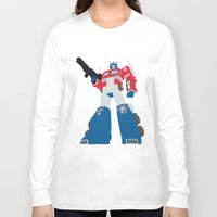 transformers Long Sleeve T-shirts featuring Transformers G1 - Optimus Prime by TracingHorses