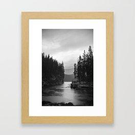 Rainy Day at Horsehoe Lake Framed Art Print
