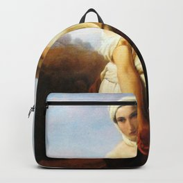 Francesco Hayez - Portrait of a woman as Ruth. Backpack