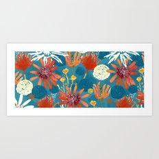 Blue Wildflowers Art Print