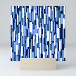 Fast Capsules Vertical Blue Mini Art Print