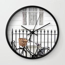 House and bicycle Wall Clock