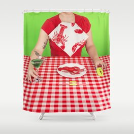 Lobster menu Shower Curtain