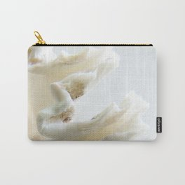 White Shell Wave Carry-All Pouch