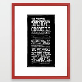 On Tolerance & Crocodiles... Framed Art Print