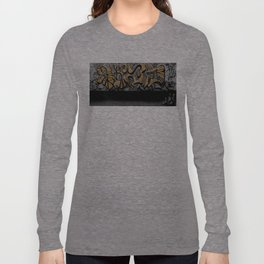 The Cover Up Orange Graffiti Long Sleeve T-shirt
