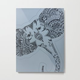 Elephant At Ease Metal Print