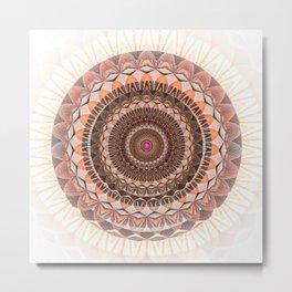 Ruby Peach Love ya Lots Boho Mandala Metal Print