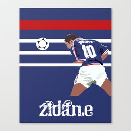Zinedine Zidane: France 98 Canvas Print