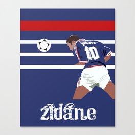 Zinedine Zidane: France 98 Canvas Print