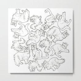 psychic cat clowder Metal Print