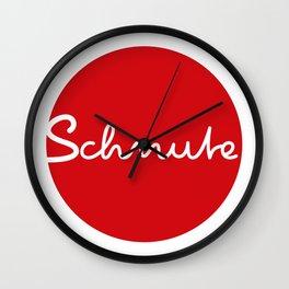 Schnute - german 4 lips, mouth, Duckface Wall Clock