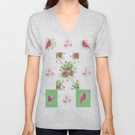 Cardinal Ladybug Pattern Unisex V-Neck