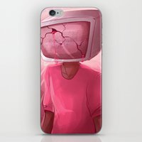 cracked iPhone & iPod Skins featuring cracked. by Zombie Rufio