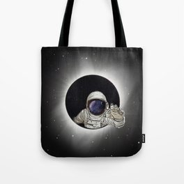 Black Hole Astronaut Tote Bag