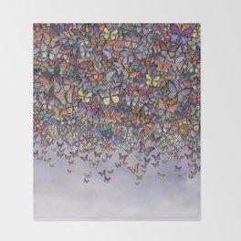 butterfly cascade Throw Blanket