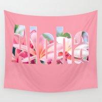 aloha Wall Tapestries featuring Aloha by Sharon Mau