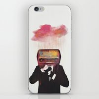 radiohead iPhone & iPod Skins featuring Radiohead by Daniel Taylor