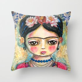 The heart of Frida Kahlo  Throw Pillow