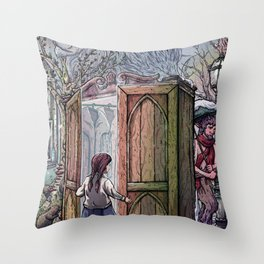 Lucy's Discovery Throw Pillow