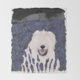 lavender dog Throw Blanket