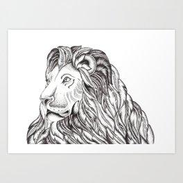 Feather Lion Art Print