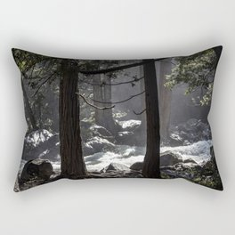 A River Runs Through Yosemite Rectangular Pillow