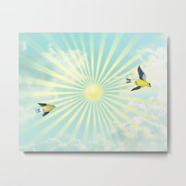 sunshine flight Metal Print