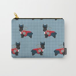 Scottish Terrier dog breed custom pet portrait funny dog pattern dog gifts all breeds Carry-All Pouch