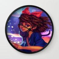 kiki Wall Clocks featuring Kiki by RSArts