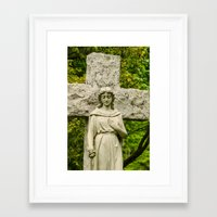 religious Framed Art Prints featuring Religious Statue by Michael P. Moriarty