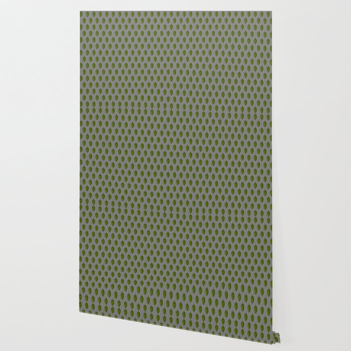 Hops Gray Pattern Wallpaper By Antimattermatt Society6