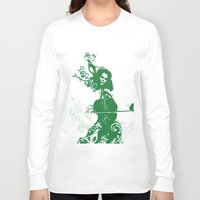 cello Long Sleeve T-shirts featuring Cello and flowers by Design4u Studio