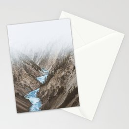 Mountain blue river Stationery Cards