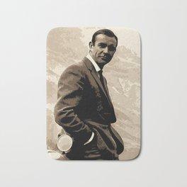 007 James Bond Sean Connery Pop Art Poster Classic Hollywood Pop Art Illustration Movie Home Decor Bath Mat