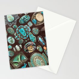 Vintage Navajo Turquoise stones Stationery Cards