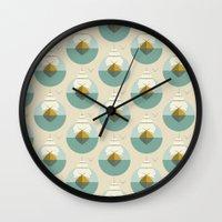 sailboat Wall Clocks featuring Sailboat by FLATOWL