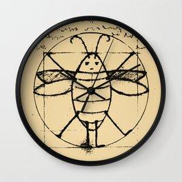 Da Vinci's Vitruvian Roach Wall Clock