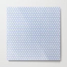 Periwinkle heart Pattern Metal Print