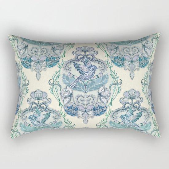 Not Even a Sparrow - hand drawn vintage bird illustration pattern Rectangular Pillow