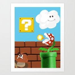Super Mario Fan Art Art Print