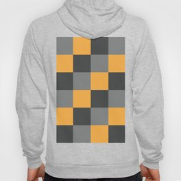 Gray and Yellow Checkerboard Pattern Hoody
