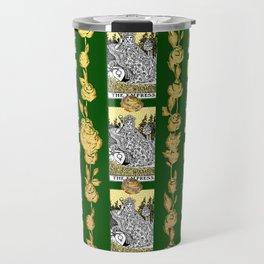 The Empress - A Floral Tarot Print Travel Mug