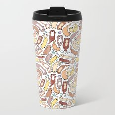 Adorable Otter Swirl Metal Travel Mug